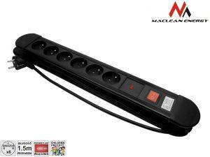 Listwa zasilająca 6 gniazd z 1 włącznik Maclean Energy MCE12 zabezpieczenie przepięciowe