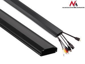 Listwa maskująca do kabli Maclean MC-693 B 60x20x750mm Aluminium łatwe otw. i zam.