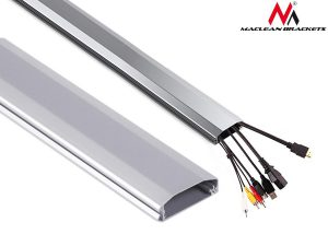 Listwa maskująca do kabli Maclean MC-693 S 60x20x750mm Aluminium łatwe otw. i zam.