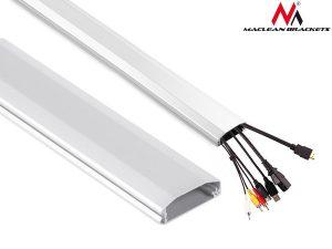 Listwa maskująca do kabli Maclean MC-693 W 60x20x750mm Aluminium łatwe otw. i zam.