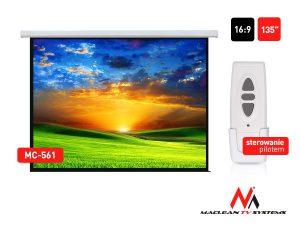 """Ekran projekcyjny elektryczny Maclean MC-561 135"""" 16:9"""
