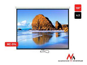 """Ekran projekcyjny Maclean MC-594 100"""" 4:3 ścienny"""