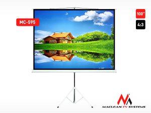 "Ekran projekcyjny Maclean MC-595 100"" 4:3 stojak"